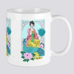 dragonflies peacock and kimono Mugs